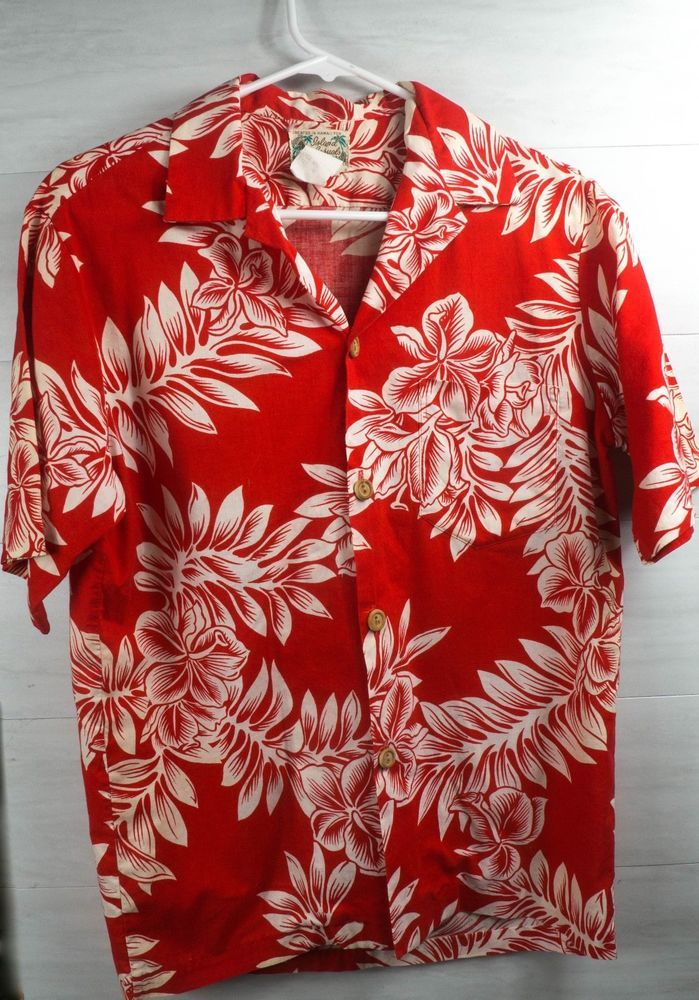 5abaf51ac80d Vintage 60s Island Casuals Hawaiian Cotton shirt Red and White Made in  Hawaii #IslandCasuals #Hawaiian #SummerBeach
