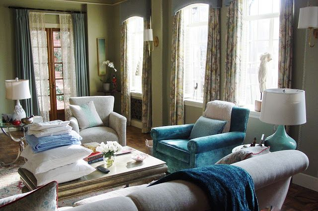 Living At Home Abo 6 homes from tv shows house guests color pallets and teal blue