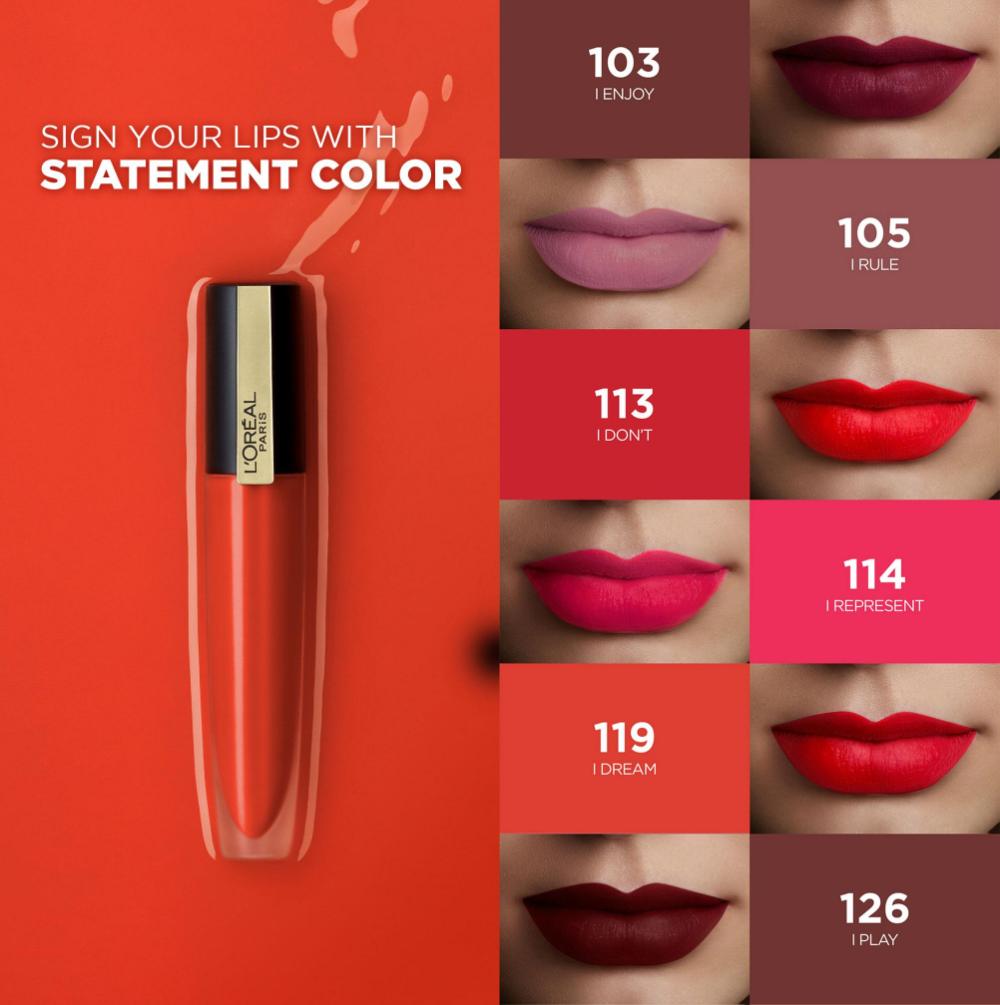 L'Oréal Paris Rouge Signature Matte Lip Tint (Makeup