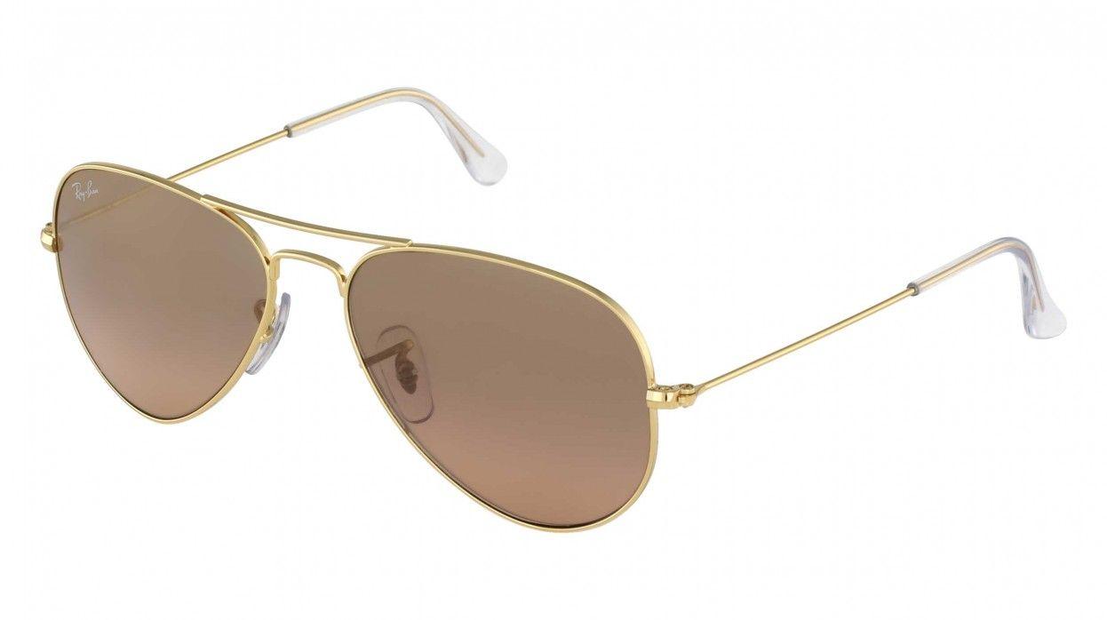 Ray Ban Sonnenbrille 3025-AVIATOR Gold grau-rosé | Ray-Ban ...