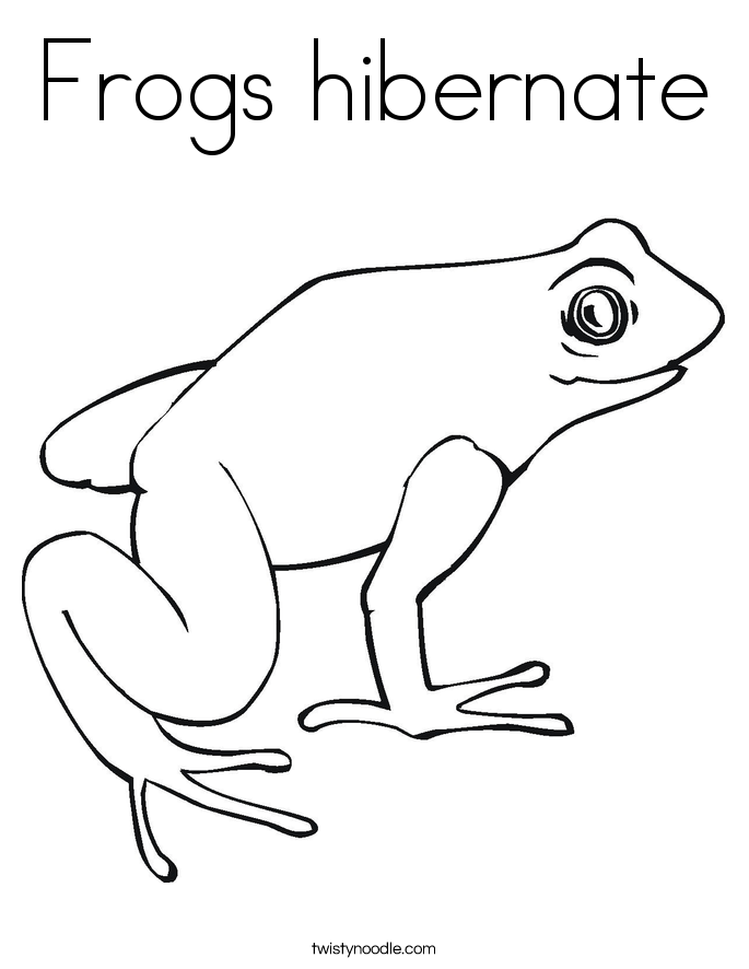 Frogs hibernate Coloring Page Animals that hibernate