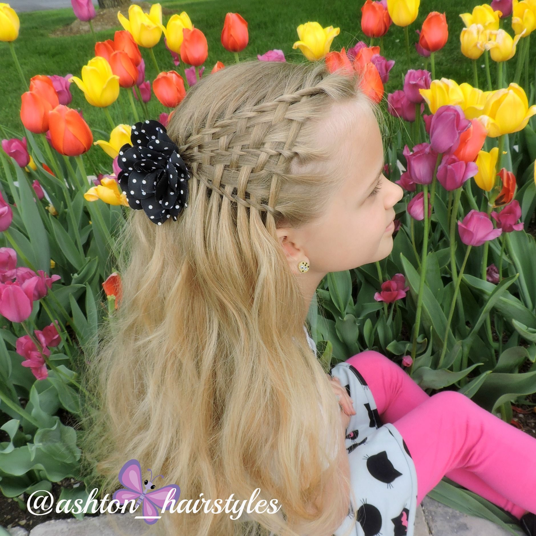 Twisted waterfall weave braid was inspired by