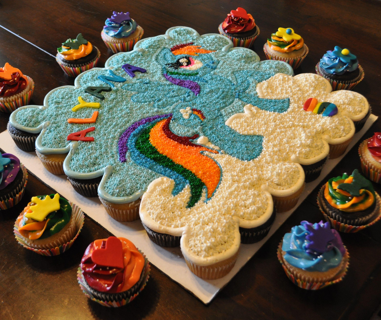 Rainbow Dash (My Little Pony) Pull-Apart Cake By Summer's