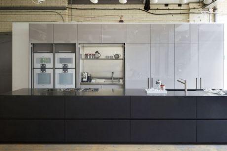 ex display modulnova fly kitchen island worktops and gaggenau appliances - Ex Display Designer Kitchens For Sale