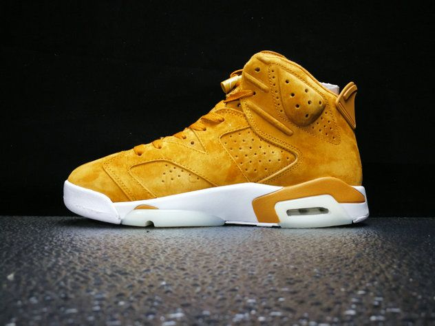 finest selection 23e77 a7539 2017 2018 Daily Nike Authentic Cheap Air Jordan 6 Golden Harvest 384664-705  Basketball Shoe For Sale