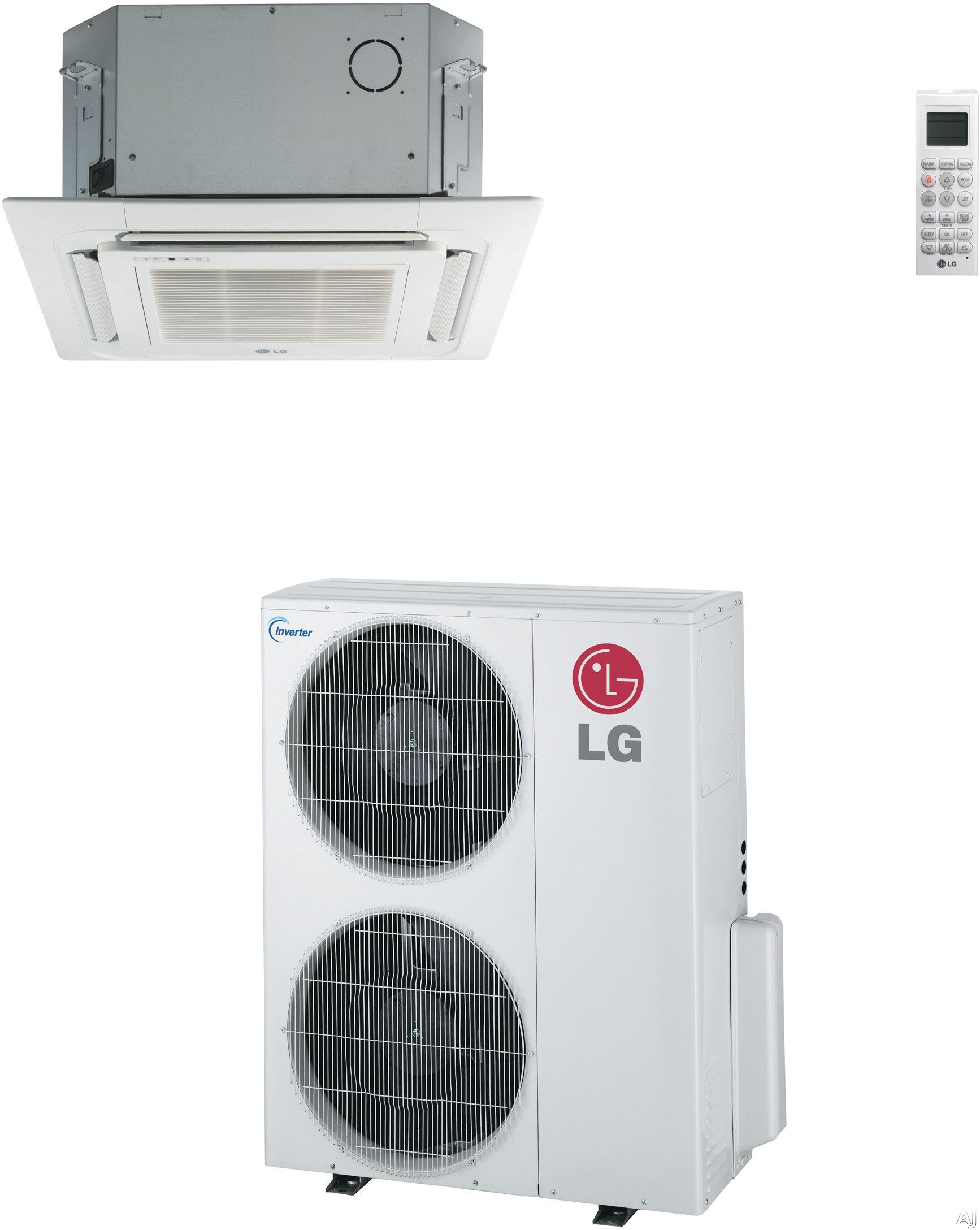 LG LC427HV 41,000 BTU Single Zone Ceiling Cassette Cool