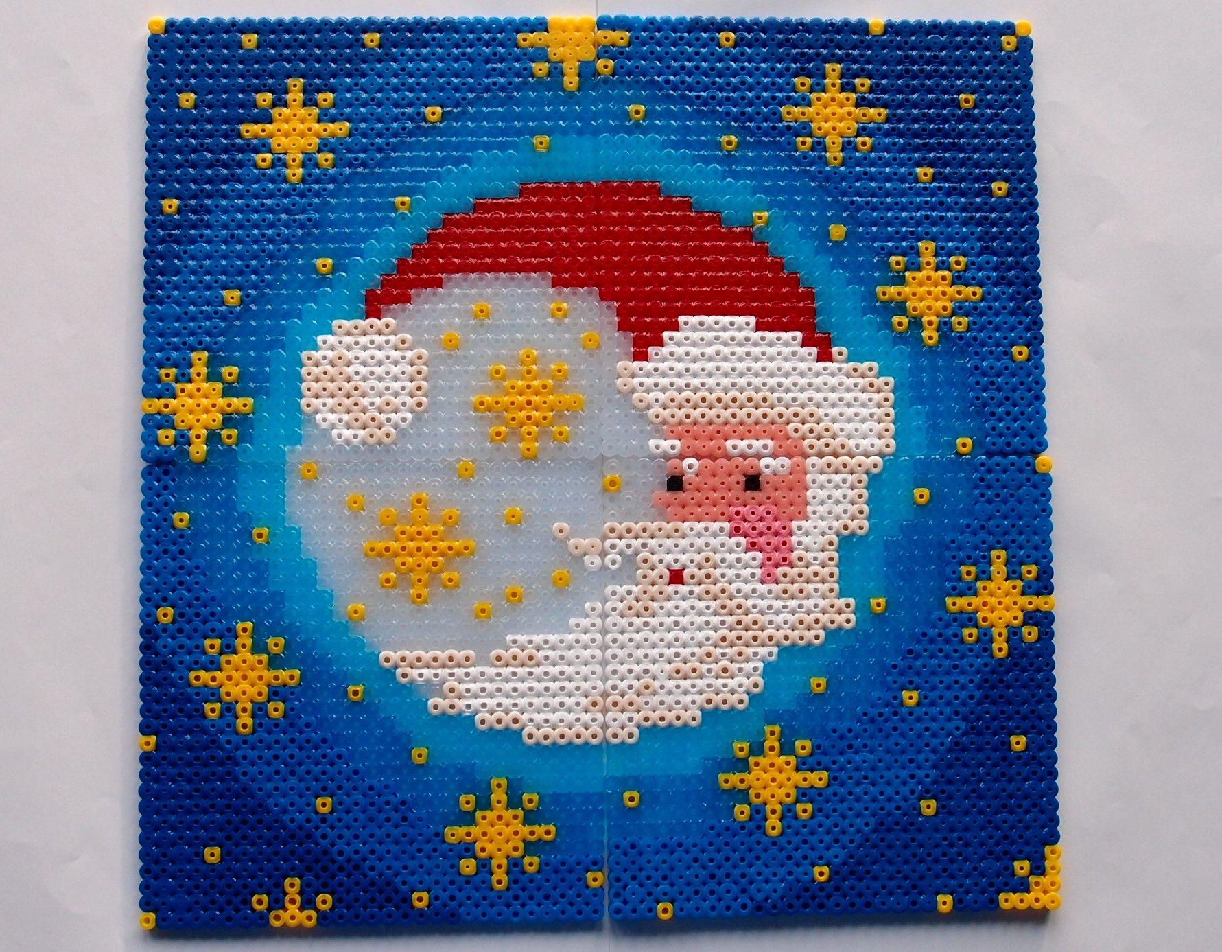 hama perler beads - Julemånen - Christmas moon by: Nina V. Kristensen