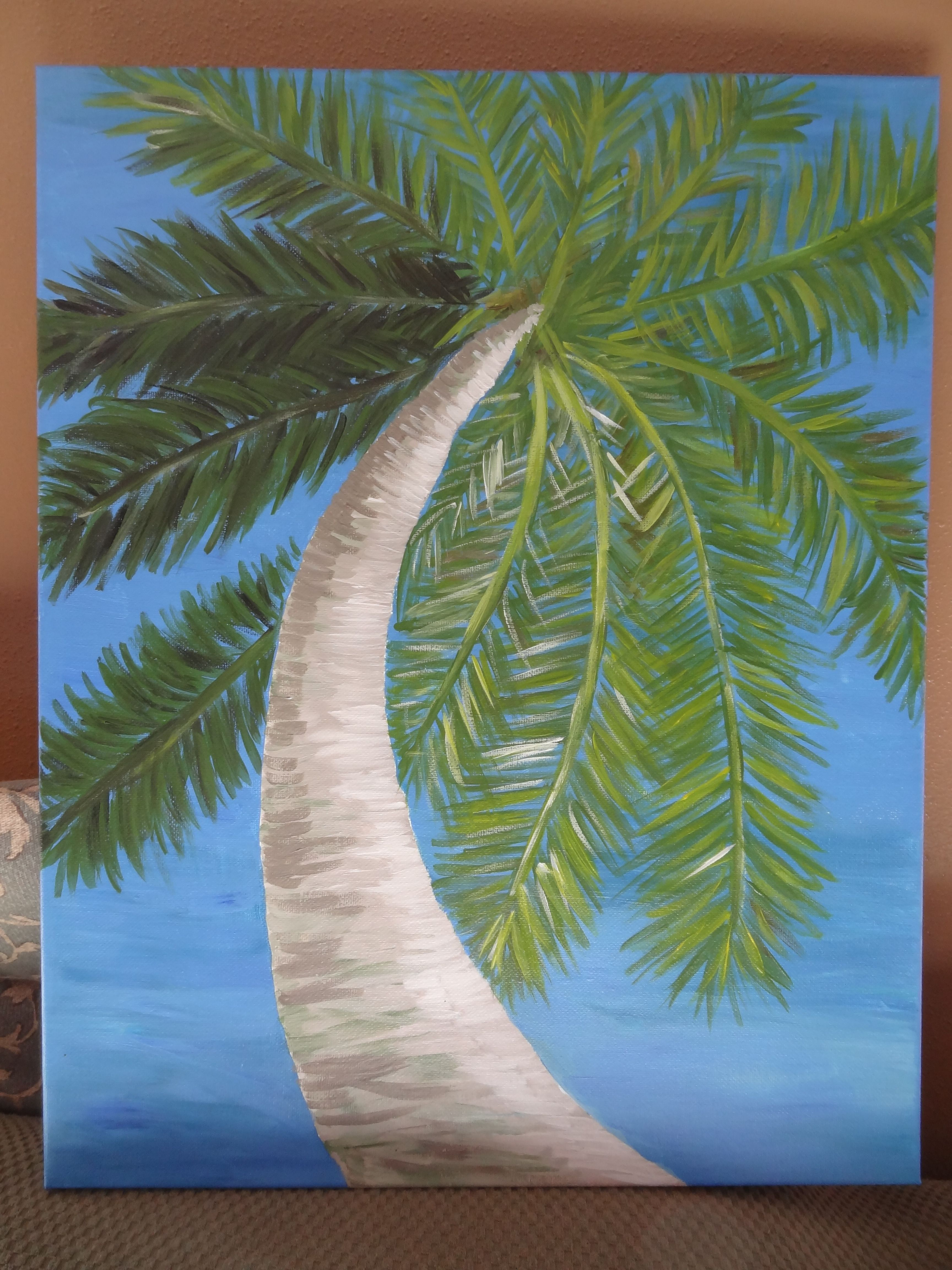 Palm tree canvas paintings painting palm trees canvas