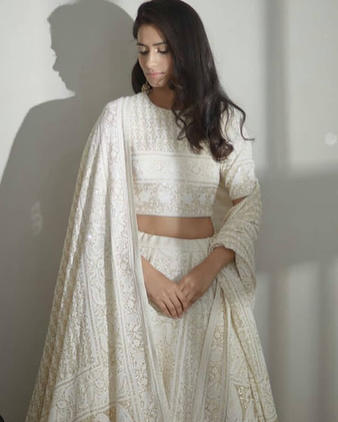 Let Our Stunning Lucknowi Chikankari Cast An Enchanting Shadow On You This Wednesday At Ogaan Hauz Khas Vil India Fashion Indian Wedding Outfits Indian Attire