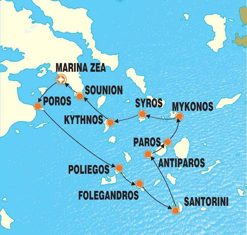 Greece 8 Day Small Ship Luxury Cruise Greek Islands Poliegos