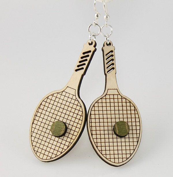 Tennis Racket Racquet Ball Country Club Sports Charm for European Bead Bracelets