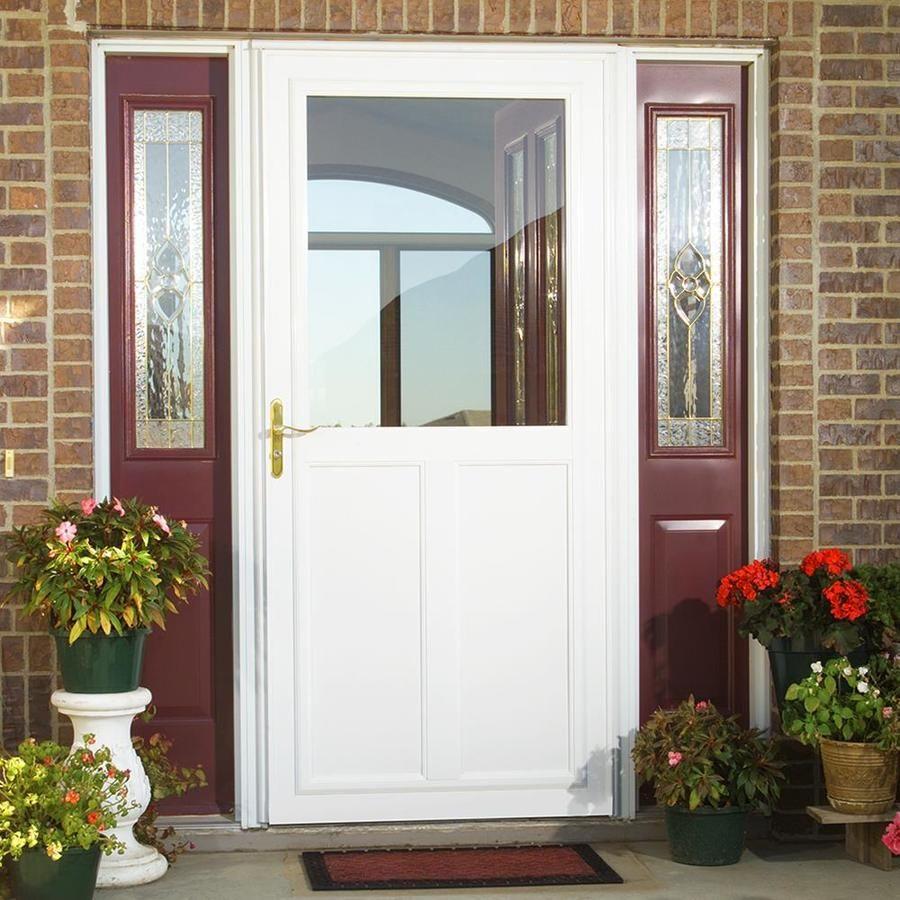 Larson Tradewinds Highview White High View Aluminum Storm Door Common 36 In X 81 In Actual 35 75 In X 79 75 In Lowes Com Aluminum Storm Doors Storm Door Glass Storm Doors
