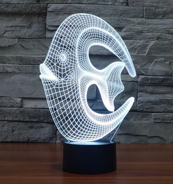 Coral 3d Optical Led Illusion Lamp Lampeez 3d Led Night Light 3d Led Lamp Led Night Light