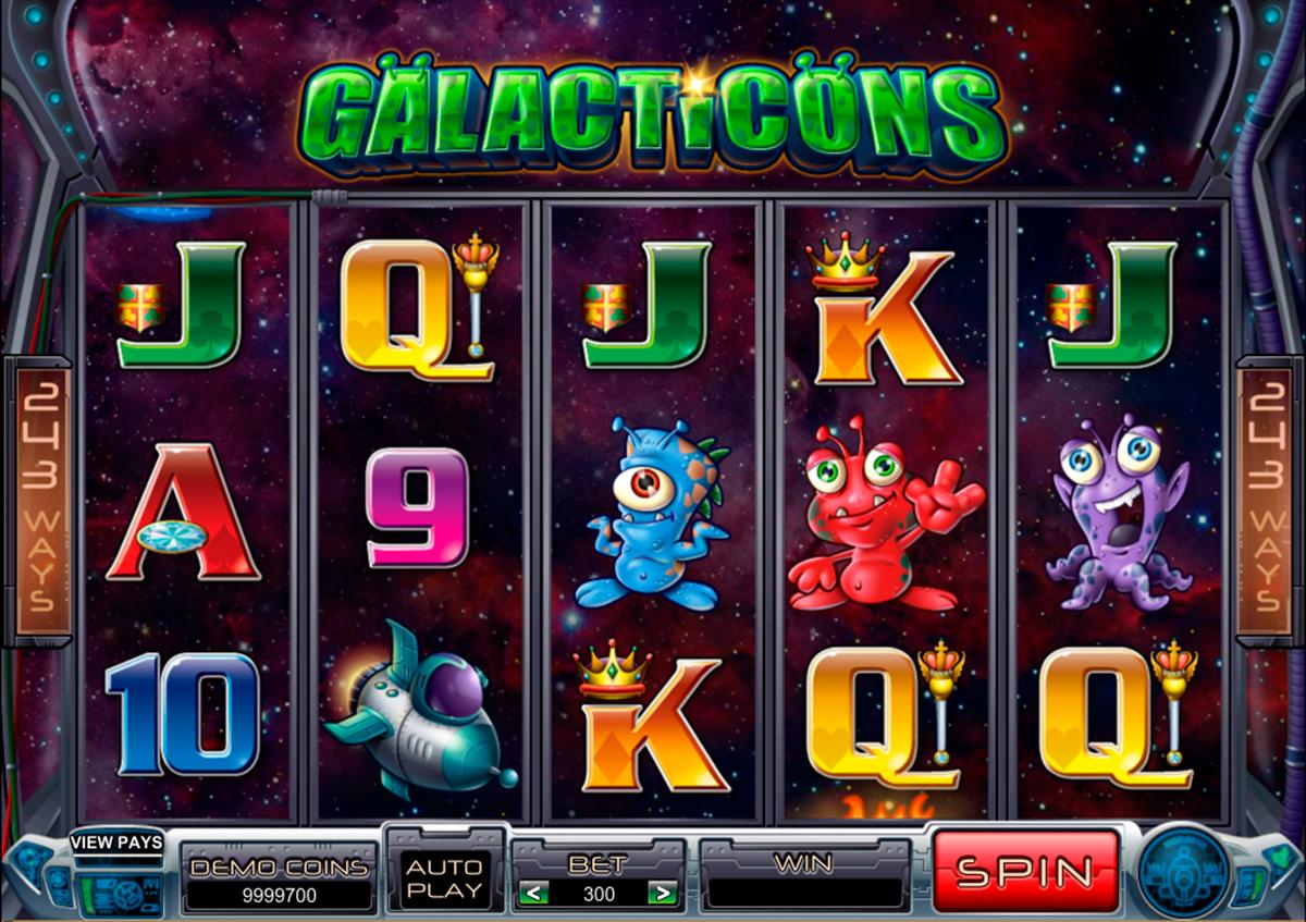 Galacticons on erittääin hyvää ja valtava Microgaming kolikkopeli verkossa! Tämä peli varmasti sopii kaikkille pelurille joka tykkää pelata erilaiset kasinopelit ja uhkapelit online! Kolikkopelissa on erilaiset bonuspelit, hyvää grafiikka, 5 rulla ja 243 voittolinjat kaikkille!