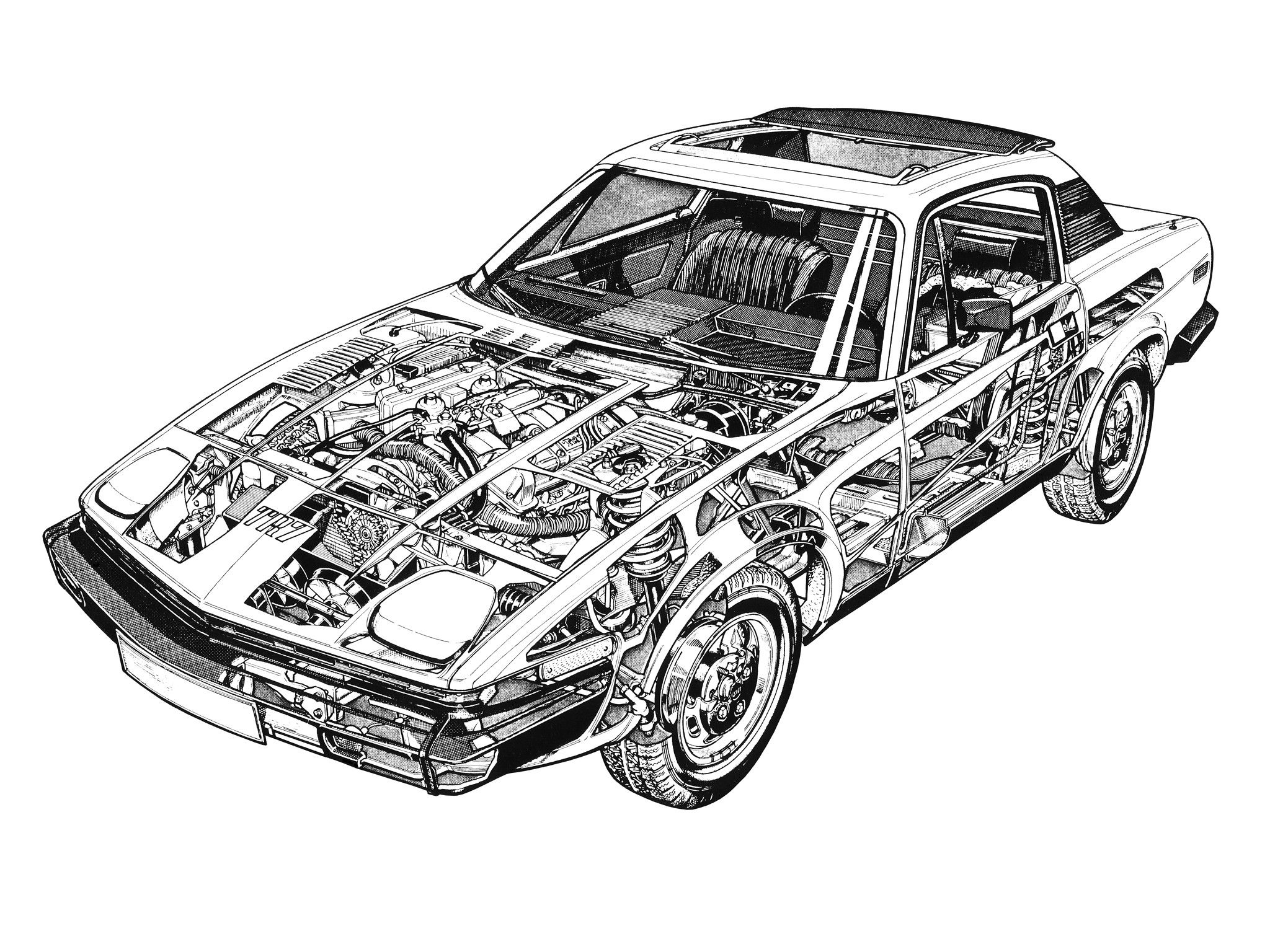 1975-81 Triumph TR7 (US specs) - Illustrated by Terry Davey