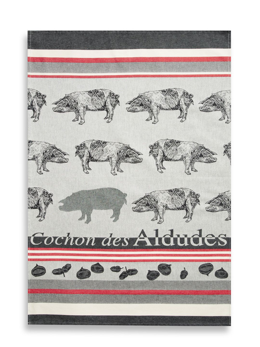 Pig Oversized Tea Towel by Jean Vier at Gilt