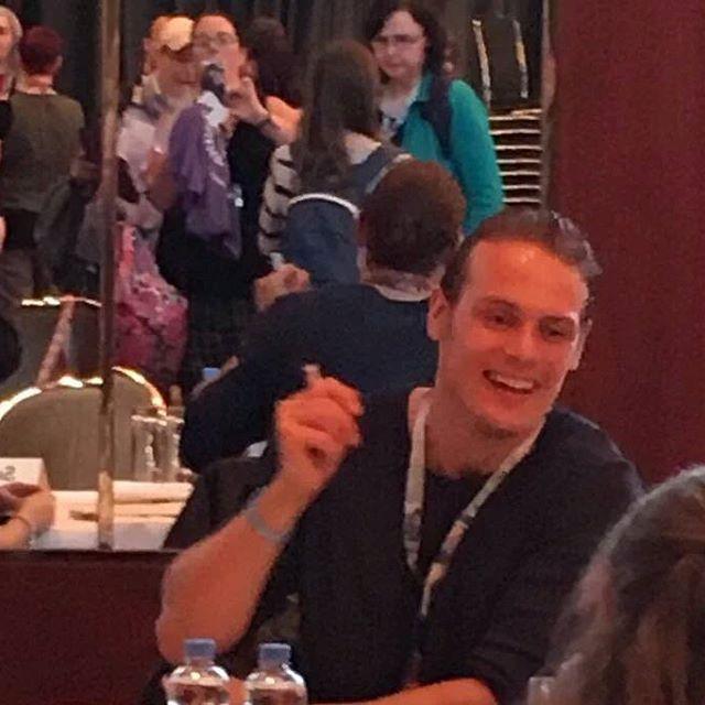 #SamHeughan at #ringcon . Via @SassenachSJ . #Outlander #OutlanderStarz #OutlanderSeries