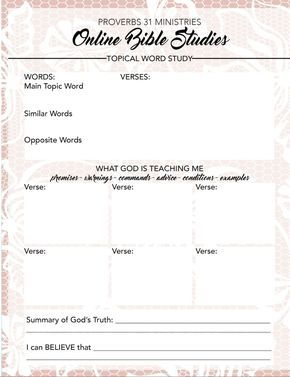 free printable for your topical word study proverbs 31 online bible studies click here to download your pdf