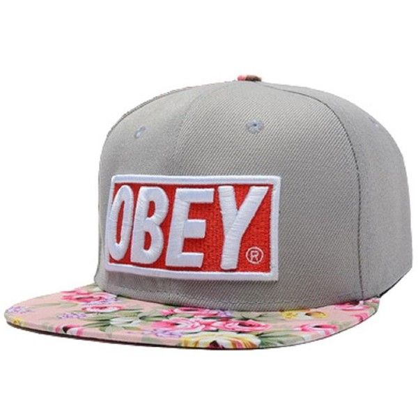 OBEY Floral Snapback Hats Grey Top Quality Men Women s Classic Baseball Caps  Unknown http   47a3dfbcc304
