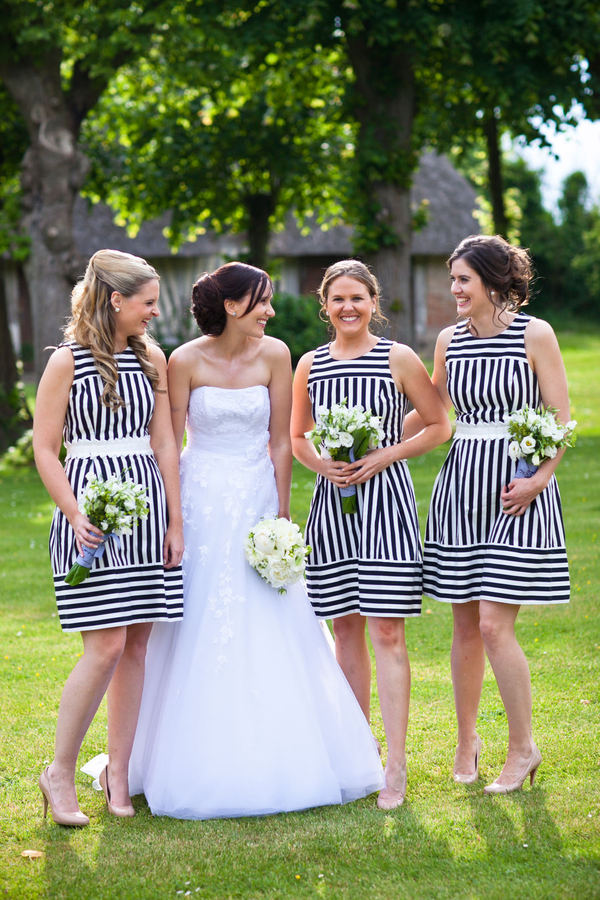 Striped Bridesmaid Dress
