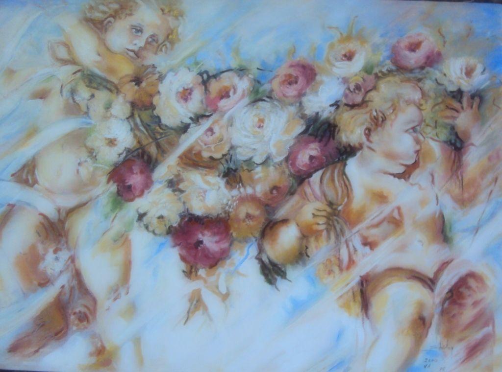 Anjos e rosas - by shirley
