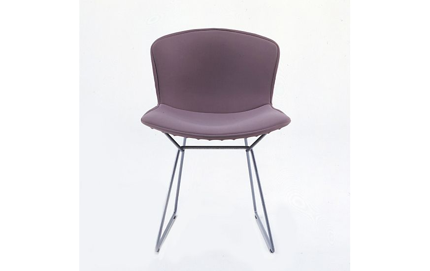 bertoia side chair with full cover in classic bouclé side chair