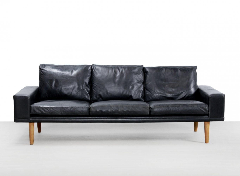 For Sale Black Leather Modernist Danish Design Sofa Danish Design Sofa Danish Design Sofa Design
