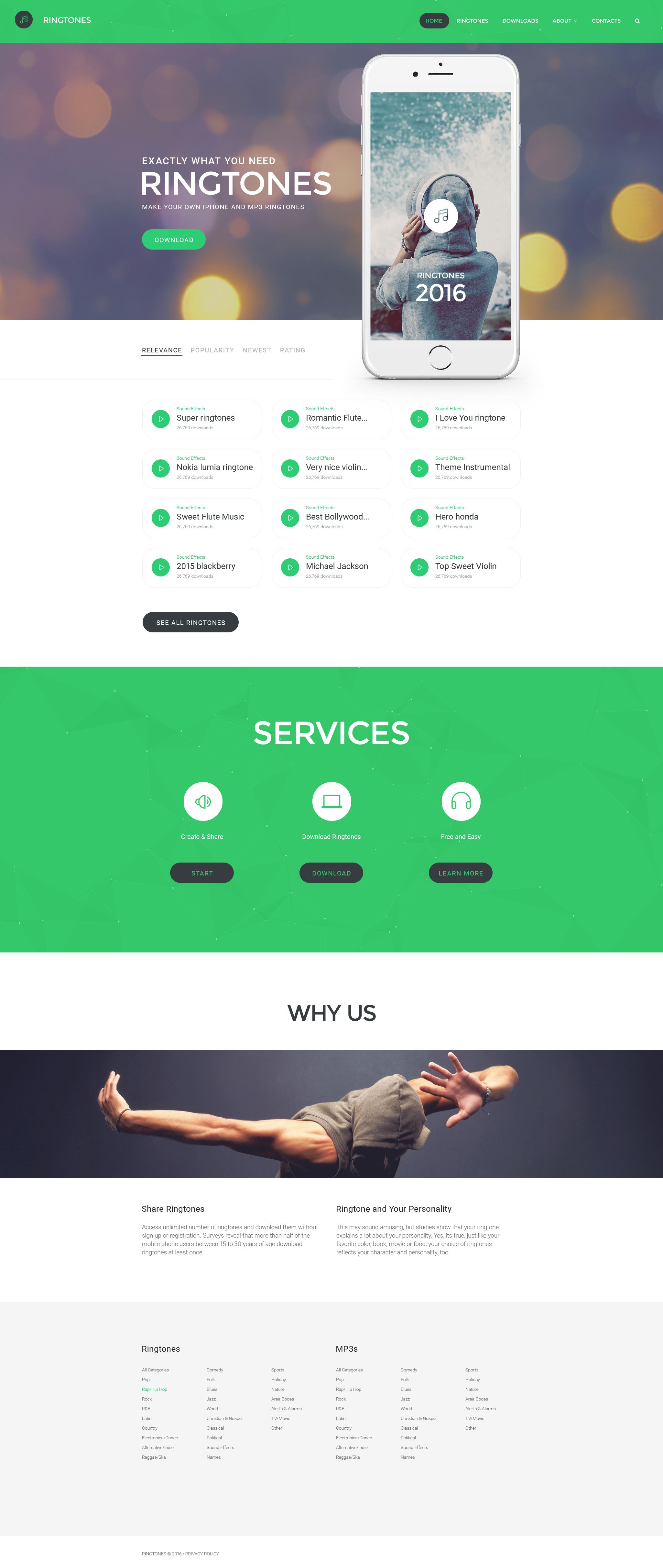 Mobile Website Templates Ringtones Portal Website Template  Portal Website Template And