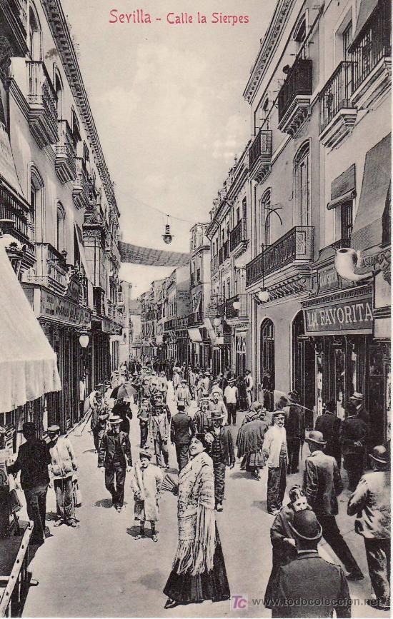 Sevilla calle la sierpes no circulada coleccion m for Cartelera avenida sevilla