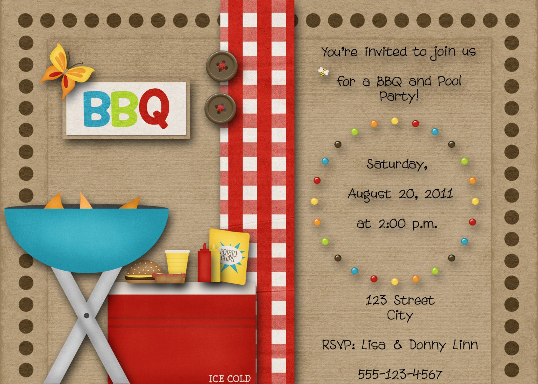 BBQ Pool Party Invitation by DecidedlyDigital on Etsy, $15.00 ...
