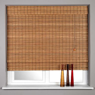teak 39 sunlover 39 bamboo roman blind blinds home. Black Bedroom Furniture Sets. Home Design Ideas