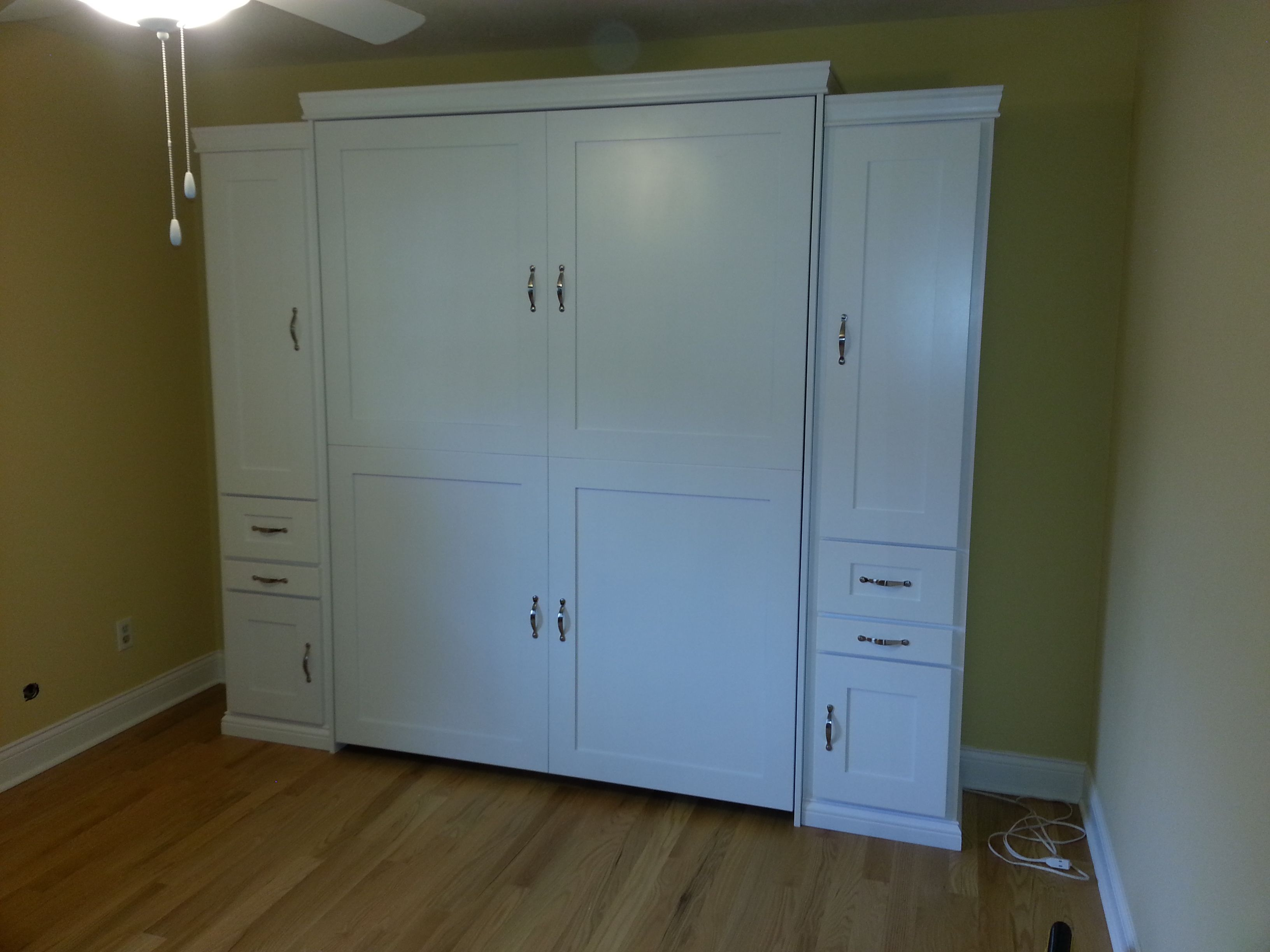 Our Customer From Bloomington, Indiana Chose The BedderWay Vertical Queen  Shaker Face Murphy Bed In