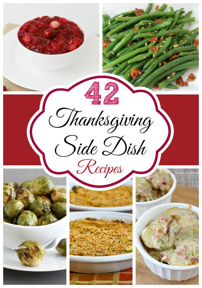 42 Delicious Thanksgiving Side Dishes @FoodBlogs