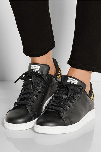 clearance adidas stan smith black and leopard 0c5ce 7d7a3
