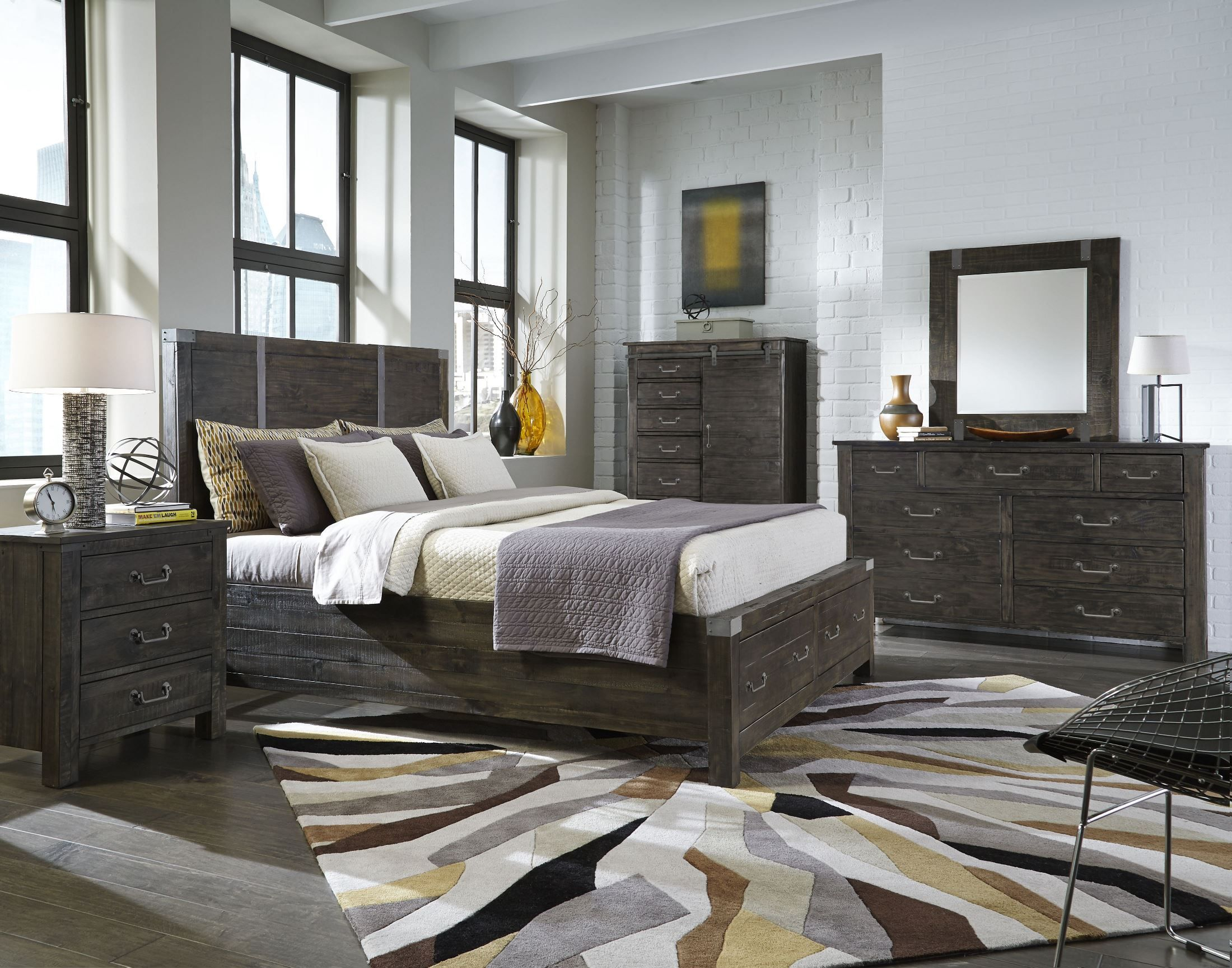 Willow Upholstered Bedroom Set Weathered Grey Upholstered Bedroom Set King Bedroom Sets Upholstered Bedroom