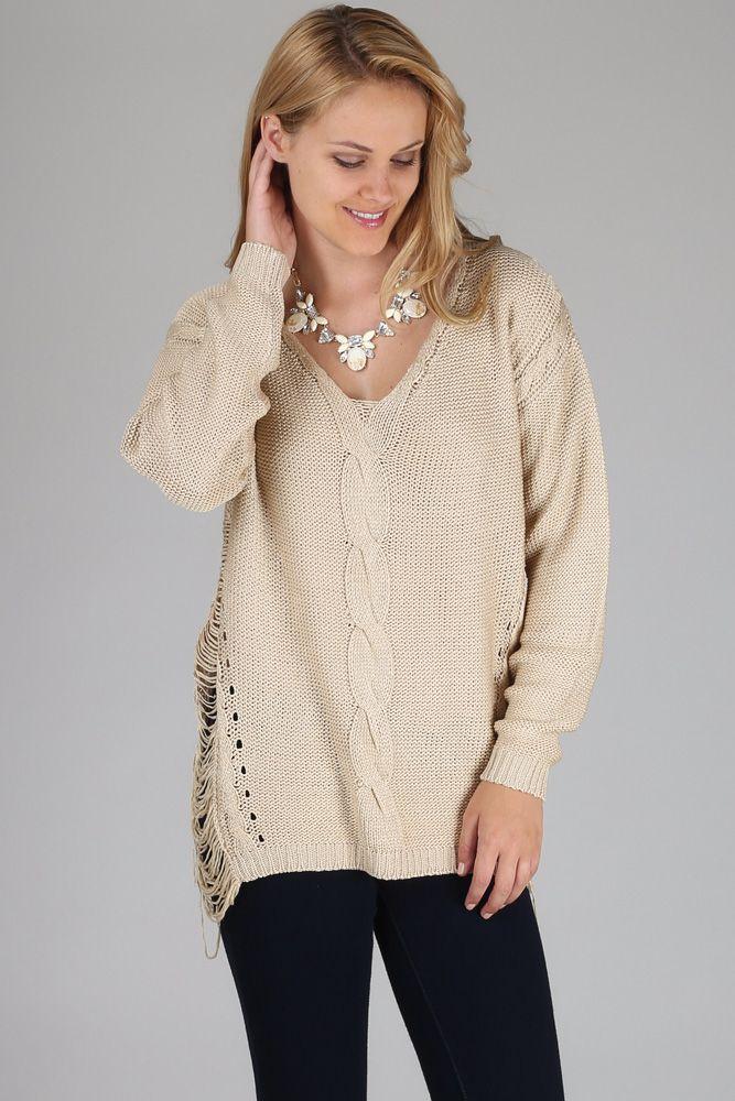 Beige-Knit-Open-Side-Sweater #pinkblush #cutewomensclothes #fallwomenstops #fashion #style