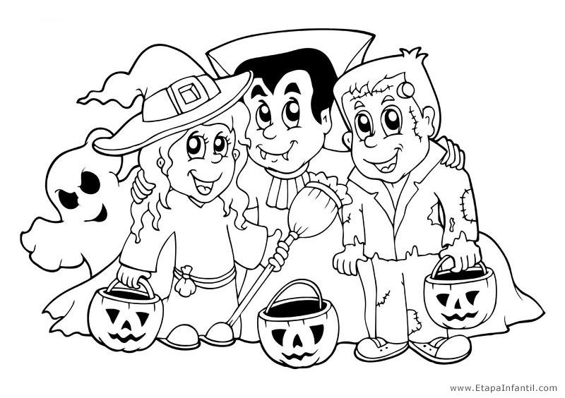 Dibujos Para Imprimir Y Colorear En Halloween Halloween Para Colorear Dibujos De Halloween Ilustracion De Halloween