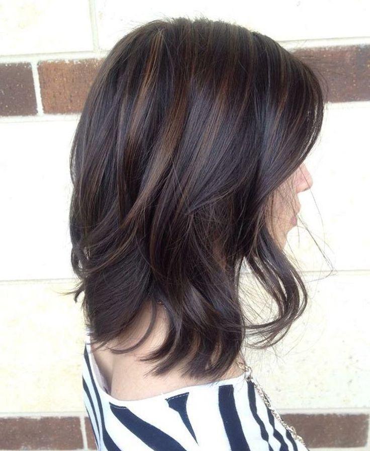Balayage cabello corto y negro
