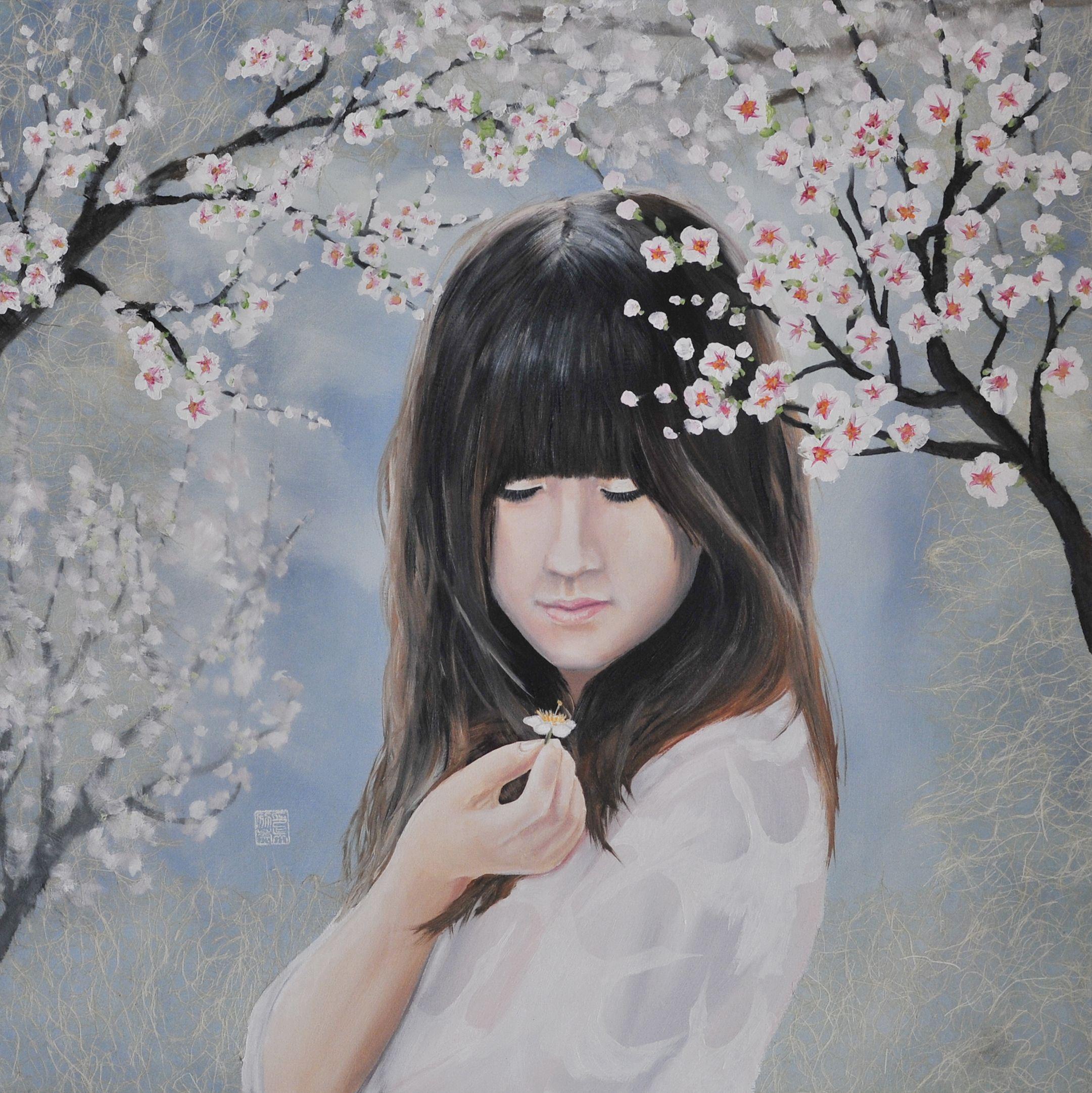 Detail - Sakura 2013 oil on linen 70*70 cm