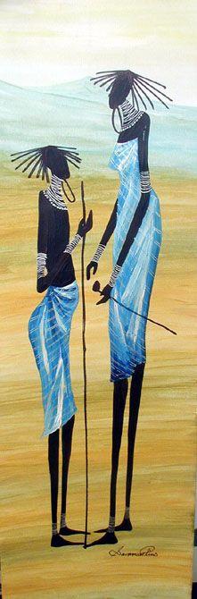 Sarah O. Shiundu, late female artist of Kenya #afrikanischerstil Sarah O. Shiundu, late female artist of Kenya #afrikanischerstil