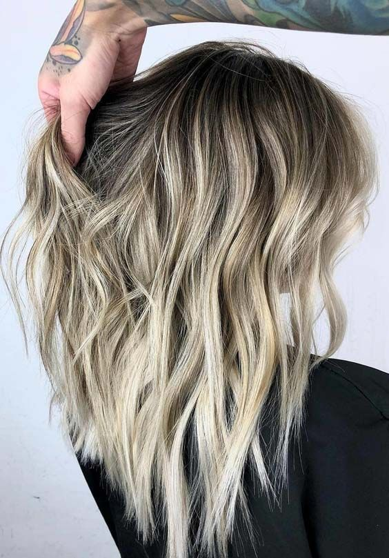 22 Balayage Blended Hairstyles with Black Roots in 2018