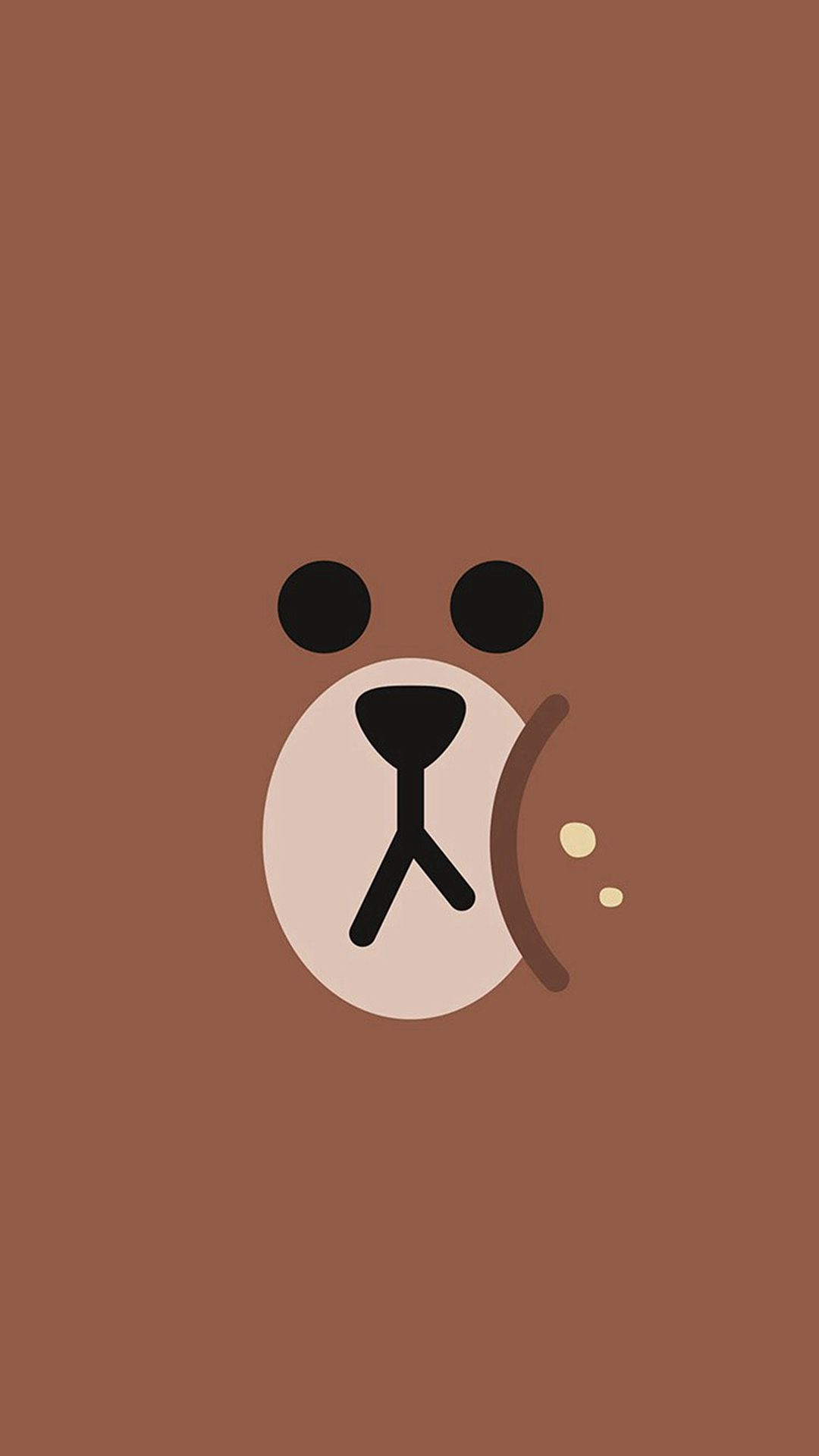 Line Charactor Cute Brown Bear Face Ilustration Art # ...