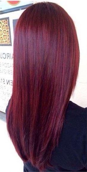 Cheveux rouge acajou Cheveux en 2019 Cheveux rouge