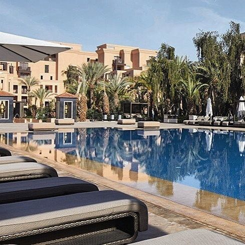 Amazing Pool Reflections At The Movenpick Hotel Mansour Eddahbi In Marrakech Pic By Movenpickmarrakech Marrakech Hivernage Resort Pools Dream Pools Resort