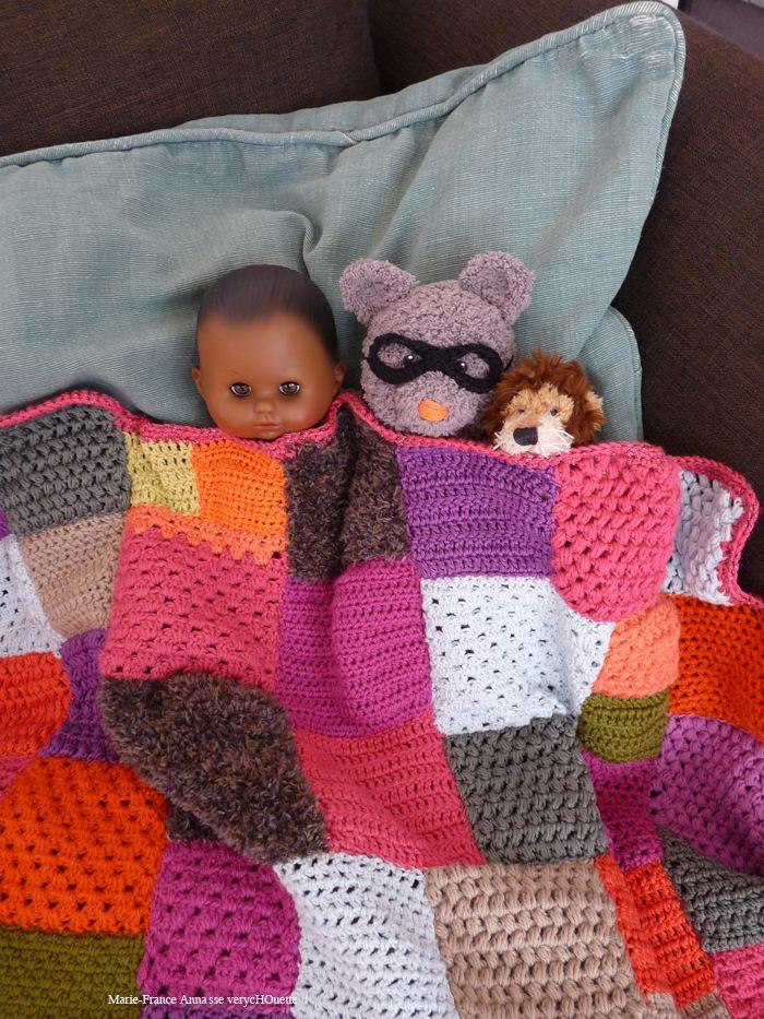 PLAIDPUZZLE - Avec nos restes de laine - diy | plaids crochet ...