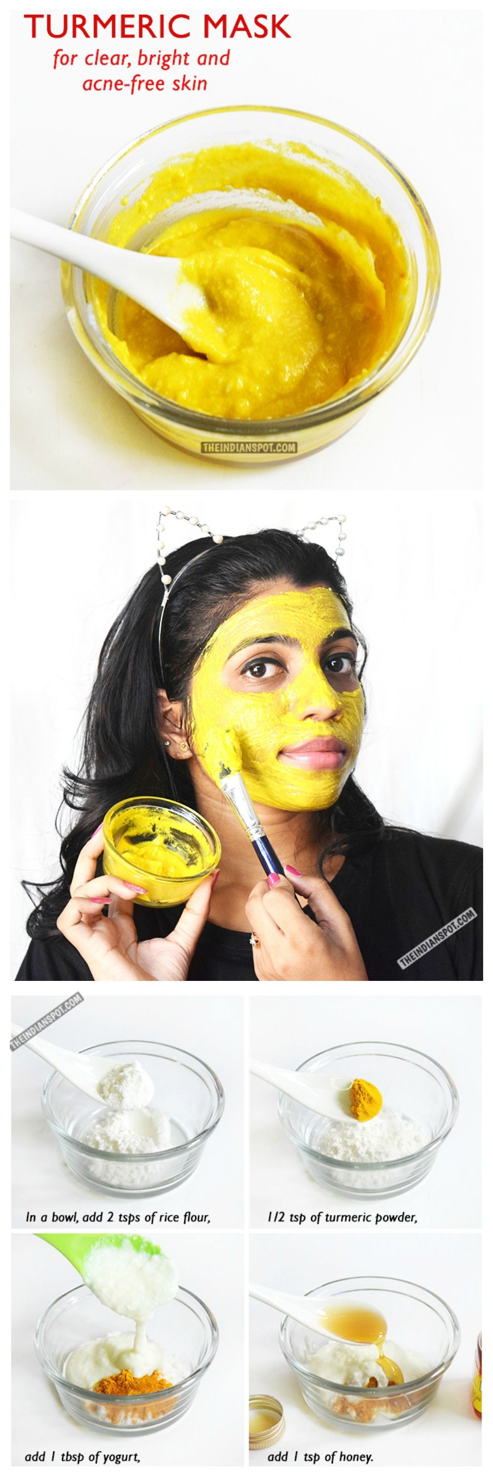 Turmeric mask for clear bright and acne free skin beauty tips diy tumeric mask for clear bright acne free skin do it yourself beauty solutioingenieria Choice Image