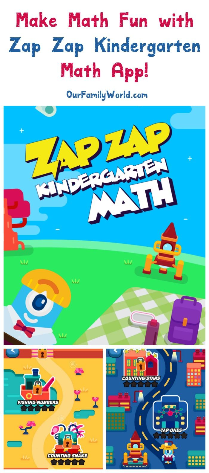 Zap Zap Kindergarten Math App Review for Kids - OurFamilyWorld ...