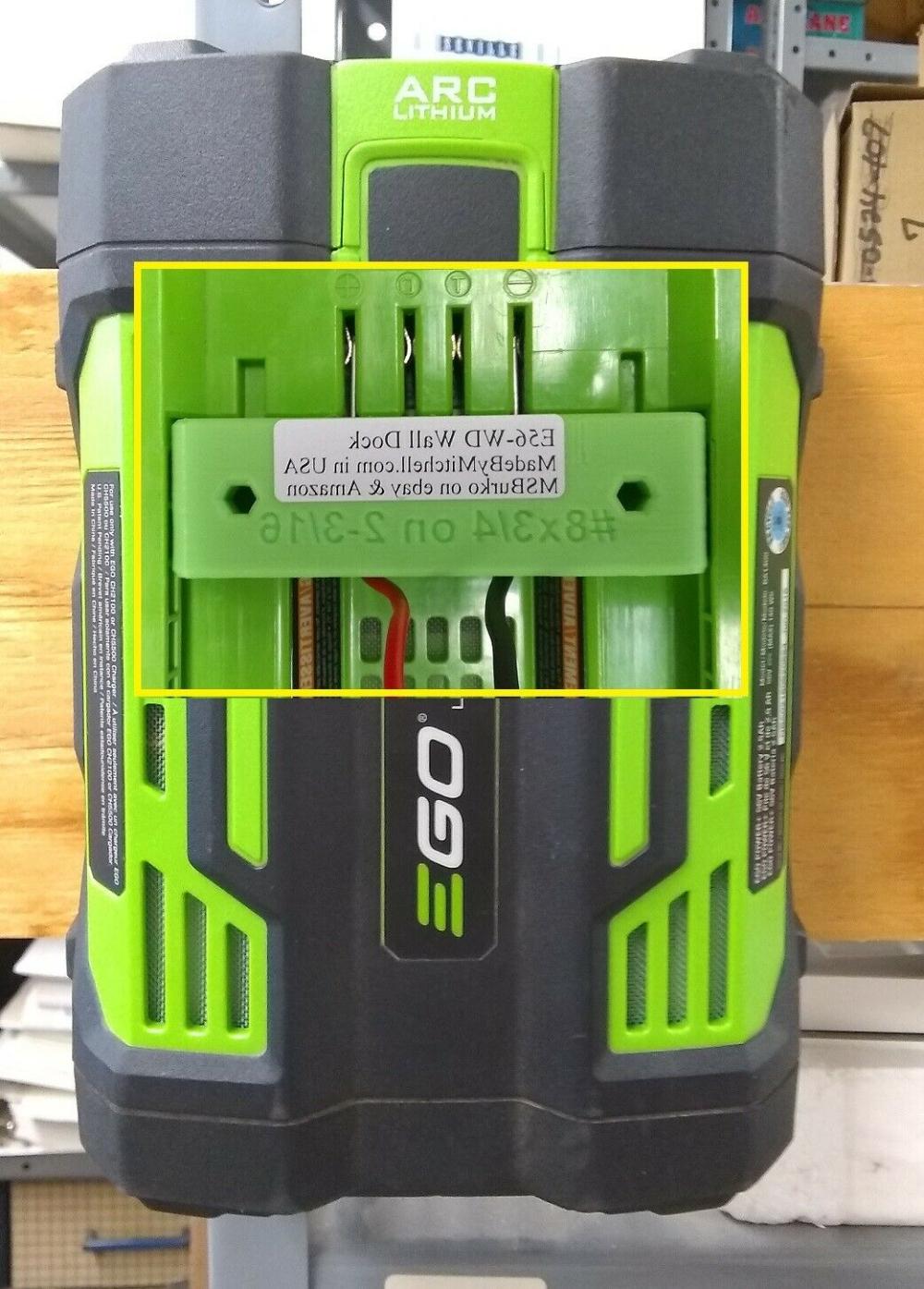 Battery Holder for EGO 56V Lawn Garden Wall Mount Store Batteries USA E56-WDx2