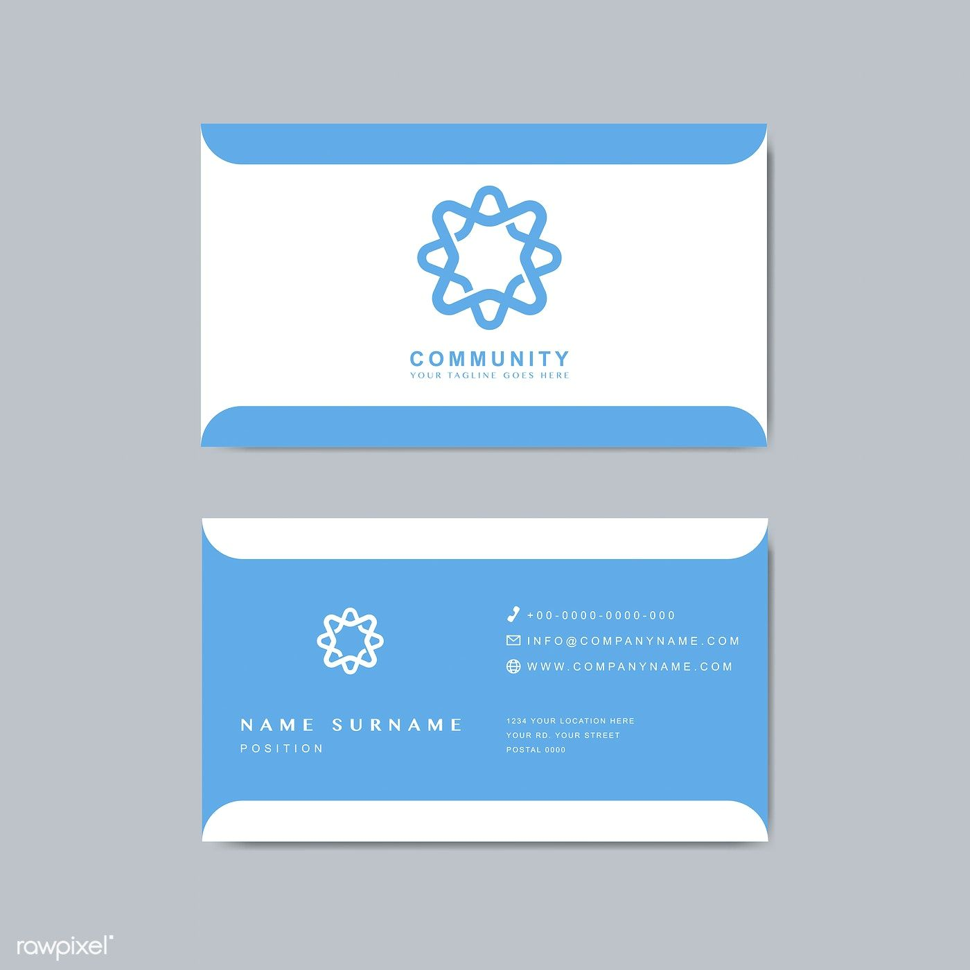 Business Card Sample Design Template Free Image By Rawpixel Com Vector Business Card Design Template Business Cards