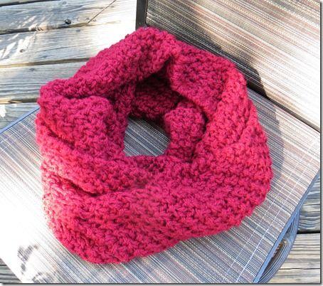 Double Moss Stitch Cowl (knitted flat, free pattern ...